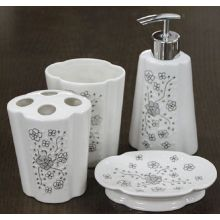 4 PC Keramik Bad Set Blume geformt