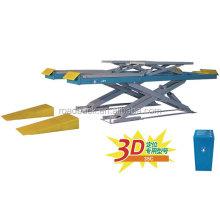 Wheel Alignment Hydraulic car scissor lift / double hydarlic scissor car lift table price for sale