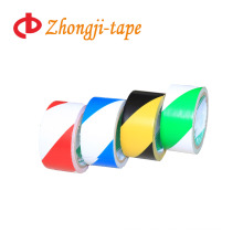 Two-tone stripe adhesive pvc custom warning tape