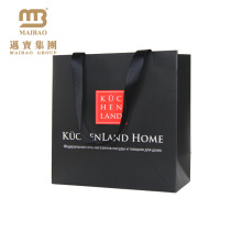 Billiger kundenspezifischer farbiger Logo-Entwurf druckte Luxus-Mode-Einkaufsverpackungspapier-Geschenk-Tasche mit Griff