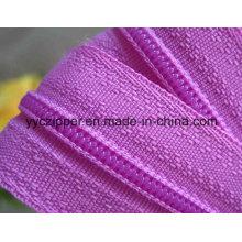 Clair à chaîne longue à fermeture à glissière en nylon