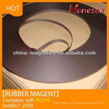 flexible rubber magnetic metal sheet strips 2mm diameter magnet