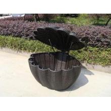 Garden Shell Shaped Wicker Rattan Storage Box With UV Resis
