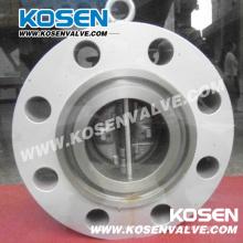 Válvula de retención de doble placa de brida de acero inoxidable