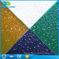 folha de policarbonato em relevo colorida