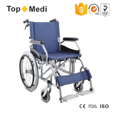 Silla de ruedas manual de acero para apoyabrazos de escritorio Topmedi para discapacitados