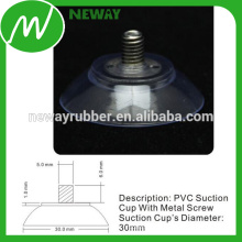High Quality 30mm PVC Suction Cup with Metal Screw