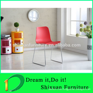 cheap price stackable metal legs PP dining chair