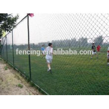 Diamond mesh chain link fence for football ground protection