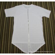 Hip Hop Longue T-shirt Noir T-shirt Coton Blanc Rouge