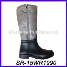 Pvc regen boot lang regen boot pu oberen regen boot