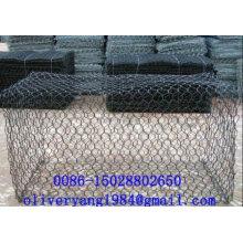 8x10 pvc enduit galvanisé hexagonal gabion boîte en pierre cage panier maille pour les trottoirs ou chutes de pierres