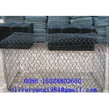8х10 покрынная PVC гальванизированная шестиугольная коробка gabion камень клетка сетка корзины для тротуаров или камнепад