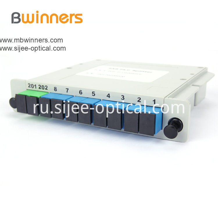 Insertion Module 2x8 Plc Splitter With Sc Upc Connector