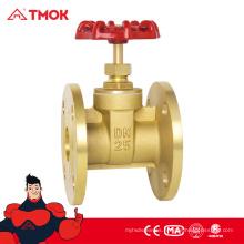 Precio más barato y válvula de compuerta de reborde de latón de calidad superior esed para controlar el líquido como el gas y el aceite de agua