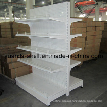 Metal Supermarket Display Storage Double Side Shelf