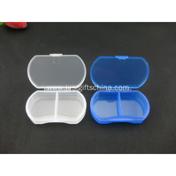 Promotional Plastic Small Pillbox - 2 Compartments
