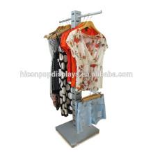 Bekleidungsgeschäft-Befestigungs-Metall-hängende Wäsche-Anzeigen-Zahnstange-Einzelverkaufsspeicher-preiswerter Kleidung-Zahnstangen für Verkauf