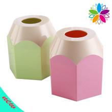 Creative Pencil Design Round Plastic Tecido Box (ZJH016)