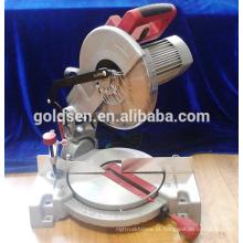 """Baixo nível de ruído 255mm 10 """"de energia elétrica de corte de madeira de alumínio Cut Off máquinas-ferramentas Motor de indução Miter Saw"""
