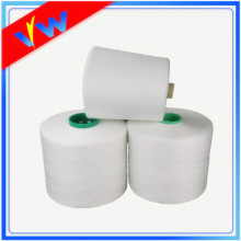 Raw white 100% spun polyester yarn 60/2