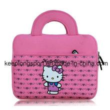 Caja rosada de moda del ordenador portátil del neopreno con el logotipo de Hello Kitty