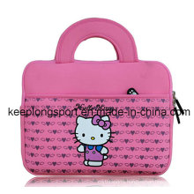 Fashionable Pink Neoprene Laptop Case with Hello Kitty Logo
