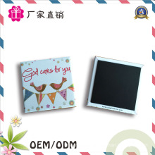 Square Souvenir Metal Tin Plate Fridge Magnet for Promotion