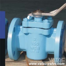 Cast Steel RF Flanged Lever Operated Lubricated Plug Valve