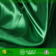 Grünes Farbpolyester-weiches Handsatin-Gewebe für Mode-Kleid