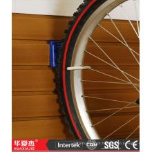 Armazenamento de bicicletas pvc slatwall painel de gancho