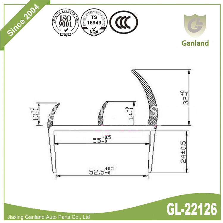 EPDM Seal Strip GL-22126