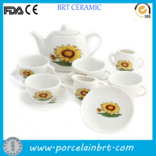 Gracce Sunflowers Design Japanese Porcelain Tea Set