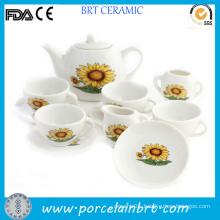 Gracce Sunflowers Design Japanese Porcelain Tea Set