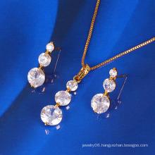 Xuping Gold Plated Fashion Zircon Jewelry Set