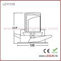 Coupez le trou 115mm 12W enfoncé LED COB vers le bas pour l'éclairage commercial LC7717D