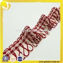 Red Tassel Trim Fringe Vorhang Fringe Lace Polsterung Ribbon Trim