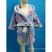 Симпатичные мягкие детей возрастной группы плюшевый халат для носить зимой