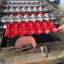 Galvanized roof wall steel tile roll forming machine