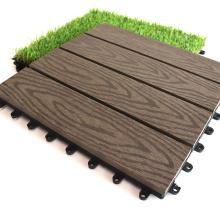 WPC Outdoor Garden Composite Wood Board Deep 3D Embossing Wood Grain Solid Decking Waterproof Restaurant Balcony DIY Floor Tiles