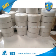 Custom white brittle destructive security label papers/eggshell vinyls label roll