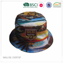 Reversible Full Printing Polyester Bucket Hat