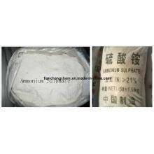 Fertilisant agricole blanc granulaire Sulfate d'ammonium (N 21%)