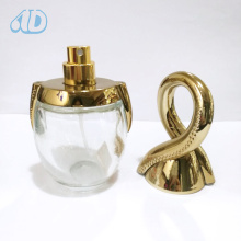 Special Curved Transparent Spray Glass Cosmetic Bottle