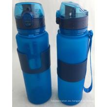Botella de agua plegable de silicona de calidad alimentaria de 20 onzas