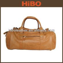 Guangzhou manufacturer handmade leather vintage leather travel weekend bag for men