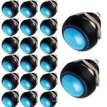 Kippschalter 20 X Blau 12mm Mini Momentan Ein / Aus Runde Druckschalter