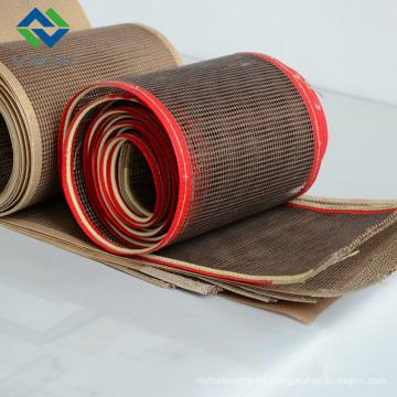 Teflon Mesh Fibergalss Gewebe und Gürtel 4 * 4 mm braune Farbe aus China
