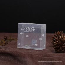 caixa clara do PVC do plástico diagonal para o presente