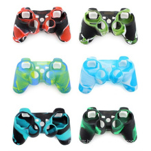 12 kinds of style camouflage silicon protective case for controller ps3 original for sony thumbstick skin